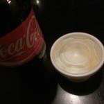 天龍軒 - コーラとネット注文サービスの杏仁豆腐でございます