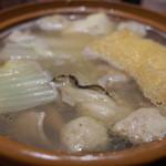 土筆んぼう - 土筆んぼう 伏見桃山店の両国風ちゃんこ鍋、煮えると出汁が出現?(13.11)