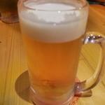 しん - 先ずはビール!(お決まりですね)