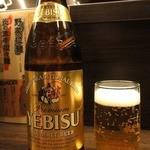 信長 - 瓶ビール(エビス)¥580(税込)