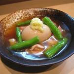 わだ津 - 鶏もも肉と玉子の炊き合わせ