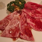 萬来 - 上肉盛り(上ロース&上カルビ)