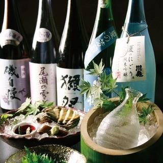 全国の地酒を多数ご用意☆人気の『獺祭』あります♪