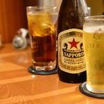火ート - ウーロン茶・サッポロ中ビン