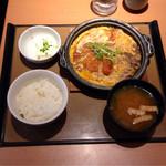 やよい軒 - ミックスとじ定食 ¥690