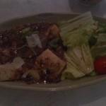 無添加・自然食 ピンポン食堂 - メインの椎茸の麻婆豆腐