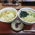 山田うどん - 料理写真:かき揚げ丼セット(580円)_2014-04-19