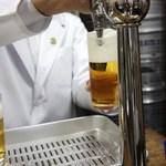 ビールスタンド重富 - 参度目の注ぎ