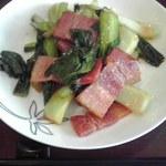 26476772 - 青菜とベーコン炒め 630円也
