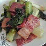 26476776 - 青菜とベーコン炒め