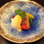 日本料理 瀬名 - 若狭牛を赤ワインで焚いた冷製料理
