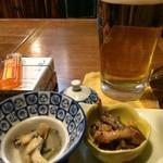 おくでら - 料理写真:ワサビとツブ貝。美味しい^ ^