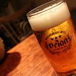 オキナワンバル ビーチグリル - オリオンビール