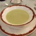 26484224 - スープ:タピオカ入り空豆のポタージュ
