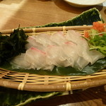 竹の庭 - 鯛の薄造り