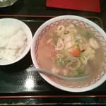 海華 - 五目麺「580円」+ライス「100円」
