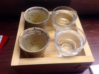 住吉酒販 博多駅店 - イロハニ枡様での飲み比べ♪
