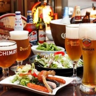 世界各国のビール揃ってます♪