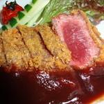 馬肉料理  馬勝蔵 - 料理写真:極上のヒレ肉使用「馬カツ」