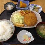 惣菜 おか - コロッケ定食450円☆(第四回投稿分②)