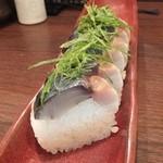 旬味きのした - 鯖寿司900円(写真は二人前?)