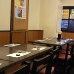 しこしこ亭 - テーブル席(宴会時配置)