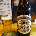 根岸屋 - ビンビール550円