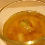 鯛良 - 小柱の茶碗蒸し 梅のあん