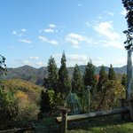 芸術村 心滋館 喫茶 - 建物の前から霊山の山々が見晴らせます