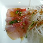 ミオ・バール - 食うぽんランチ(前菜:金目鯛のカルパッチョ)