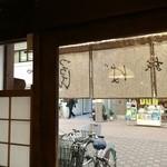 つるてん生楽 - 店内から、元町商店街を望む