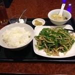 金葉 - チンジャオロース定食850円