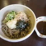 松本蕎麦店 - ぶっかけ(冷) 味噌風味の冷たいそば 670円