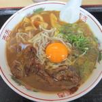 徳島ラーメン奥屋 - 中華そば 玉子入り 550円(税別)