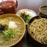松本蕎麦店 - かまわり 810円 釜揚げそば(小)と、割子そば(2枚)のセット