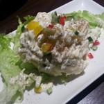 カヤバル - ゴルゴンゾーラの風味が生きる『ブルーチーズのポテトサラダ』激旨っ!!