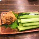 濱田 - そぼろにんにく味噌きゅうり刀義味噌450円