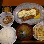 旬菜家庭料理なかよし - チキン南蛮定食with納豆♡