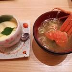 26549393 - 『茶碗蒸し』(330円)と『香箱のかに汁』(470円)~♪(^o^)丿