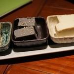 26550932 - (14.03.18)汲み出し、黒胡麻、わさびの三種盛り豆腐