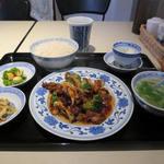 中国料理 頂好 - ランチセット 牛肉と野菜のカキ油炒め