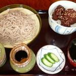 天蕎庵 - 料理写真:ミニヒレソースカツ丼セット