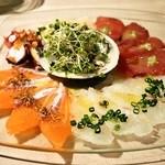 びすとろ UOKIN - 料理写真:2014.3 海の幸のカルパッチョ(フル980円)