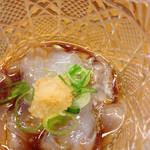 土佐わら焼き料理 みやも亭 - のれそれ(穴子の稚魚)