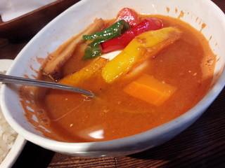 サイのツノ - スープカレーのアップ