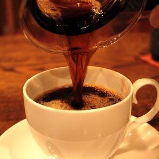まろやかな口当たりのコーヒー