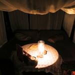 心の休憩室ガルーバ - 菫あざみの蚊帳席・ローソクの灯りだけの癒しの空間です