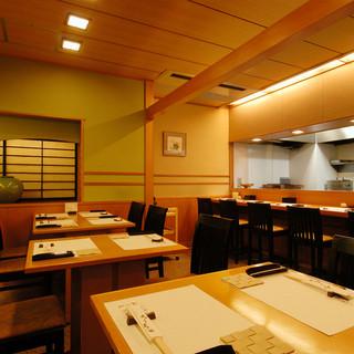 優しい和食を楽しむには、ピッタリの空間。