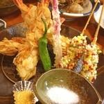 海幸 - メチャ豪華な、海老のアーモンド揚げ!! びっくり(≧∇≦) 海幸さん、リーズナブルなお値段でステキ!!