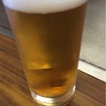 富士屋 - 生ビール(500円)。飲んじまった^^;